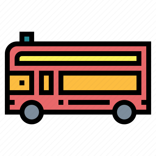 bus, public, school, transportation, vehicle icon