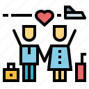 honey, love, moon, travel, trip, wedding icon