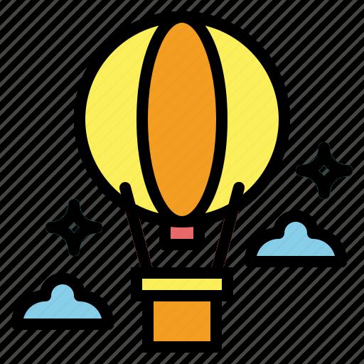 air, balloon, fly, hot, transportation icon