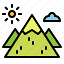 landscape, mountain, mountains, nature, travel icon