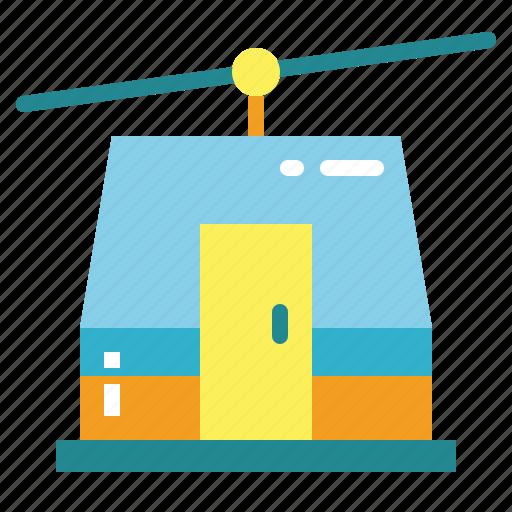 cabin, cable, car, resort, ski, transport, transportation icon