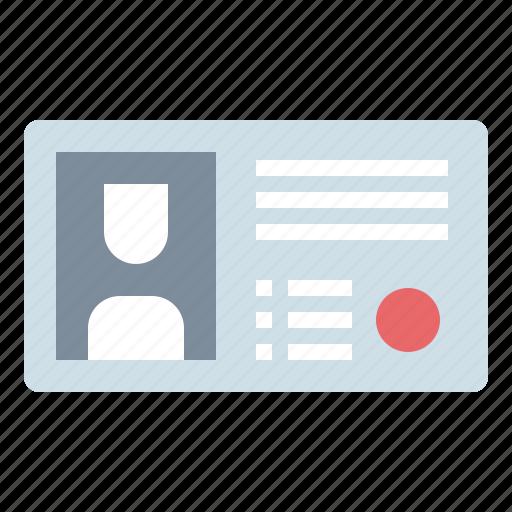 card, id, identification, identity, pass icon