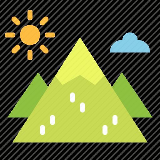 landscape, mountain, mountains, nature, travel icon
