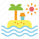 beach, holidays, sea, summer, vacations icon