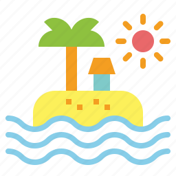 beach, holidays, sea, summer, vacations icon