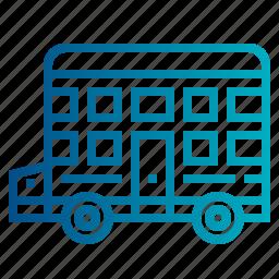bus, decker, double, transport, transportation icon