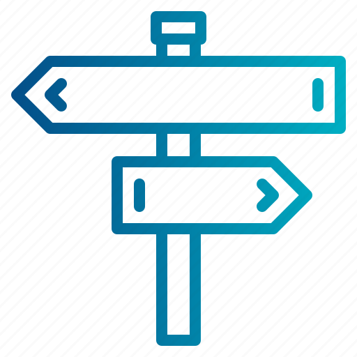 direction, location, panel, road, sign icon