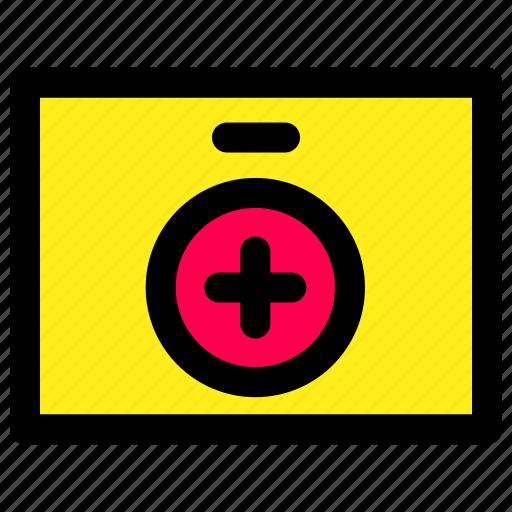 box, emergency, health icon