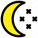 dark, moon, night, stars icon