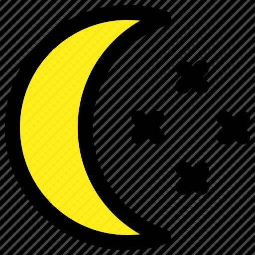 dark, moon, night, stars icon
