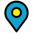 location, map, pin, position icon