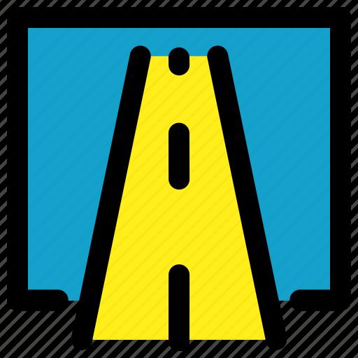 map, road, transportation, way icon