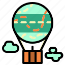 air, balloon, flight, fly, hot icon