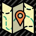 location, map, orientation, position icon