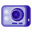 action, camera, holiday, outdoor, travel, vacation, video icon
