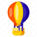 baloon, flight, holiday, travel, vacation icon