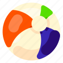 ball, beach, holiday, play, travel, vacation icon