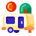 accomodation, caravan, holiday, outdoor, transport, travel, vacation icon