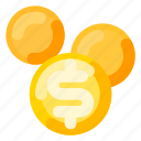 coin, holiday, money, travel, vacation icon