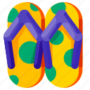 beach, flipflop, holiday, travel, tropical, vacation icon