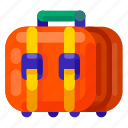 equipment, holiday, lugage, travel, vacation icon