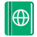 holiday, passport, transport, travel, vacation icon