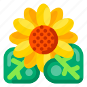 flower, garden, holiday, sun, travel, vacation icon
