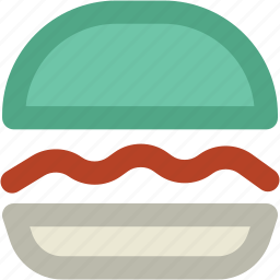 burger, fast food, food, hamburger, junk food, meal, sandwich icon