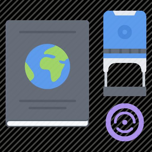Airplane, holidays, passport, stamp, ticket, travel icon - Download on Iconfinder