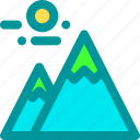 adventure, climbing, hiking, mountain, top icon