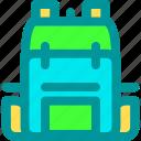 backpacker, bag, school, solo, travel icon