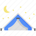 camping, holiday, tent, travel, vacation icon