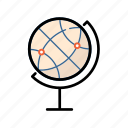 globe, world, orb, pin
