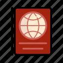 .svg, passport, red, travel, world icon