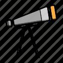 .svg, scope, star, telescope icon