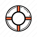 .svg, life belt, life buoy, life ring icon