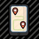 3, guide, navigate, phone, pin, plan, telephone