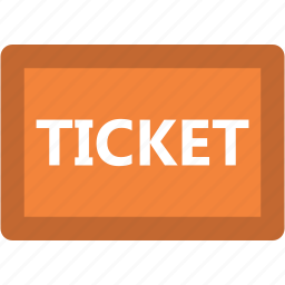 entry pass, event ticket, museum ticket, pass, theater ticket, ticket icon