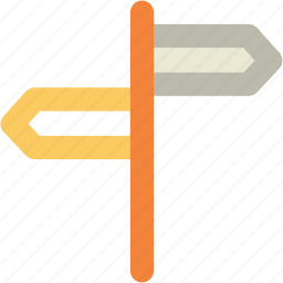 direction post, direction sign, finger post, guidepost, road sign, signpost icon