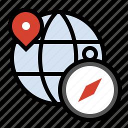 compass, location, navigate, travel icon