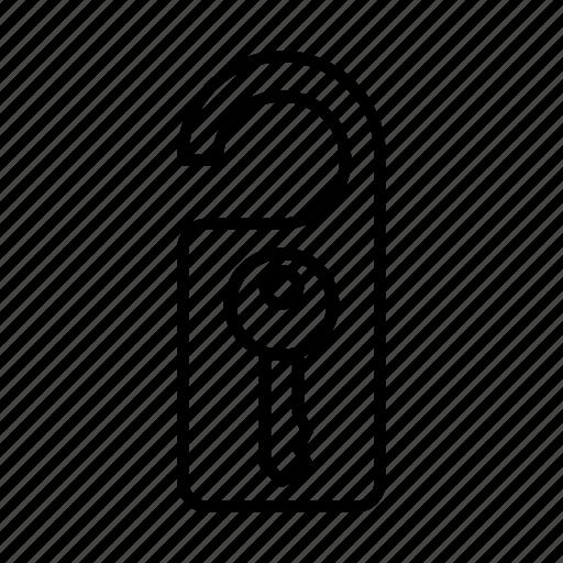 door, holiday, lock, tourism, tourist, travel, vacation icon