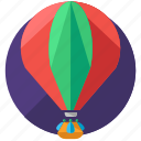 air, balloon, transportation, travel, trip icon