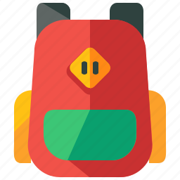 backpack, baggage, luggage, pack, travel icon