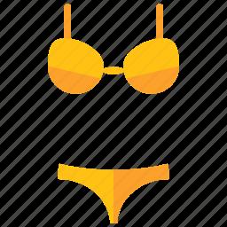 bathing, bikini, clothes, clothing, summer, travel icon