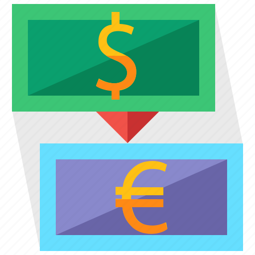 currency, dollar, euro, exchange, holiday, travel icon