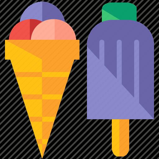 cream, food, ice, snack, summer, sweet, travel icon