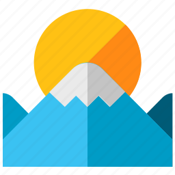 holiday, mountain, mountains, sun, travel, vacation icon