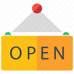 holiday, open, sign, travel, vacation icon