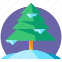 holiday, pine, skiing, snow, travel, tree, winter icon