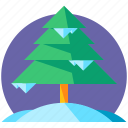 holiday, pine, skiing, snow, travel, tree, winter icon